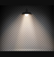 lamp with warm light on a transparent vector image vector image