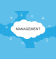 management infographic cloud design template vector image vector image