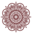 Mehndi Indian Henna brown tattoo pattern vector image vector image