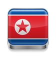 Metal icon of North Korea vector image