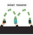 money transfer via mobile phone vector image
