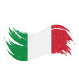 national flag of italy designed using brush vector image vector image