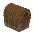 old classic closed treasure chest isolated vector image vector image