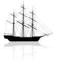 old ship vector image vector image