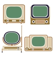 Old TV Vintage Set Retro Apparatus vector image vector image