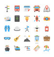outdoor travel and camping flat icons vector image