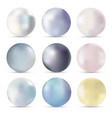 pearls realistic set isolated vector image vector image