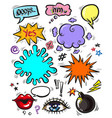 pop art modern badges patches and speech vector image vector image