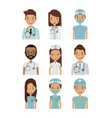 professional medical people design vector image vector image