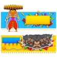 Ravan in Dussehra advertisment and promotion vector image