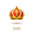 realistic 3d golden crown vector image vector image