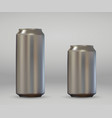 realistic aluminium can vector image vector image