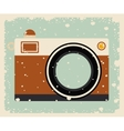 retro camera posterisolated icon design vector image