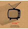 Retro tv Flat modern web button on a flat vector image