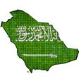 Saudi Arabia map with flag inside vector image