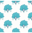 Seamless bright floral pattern vector image