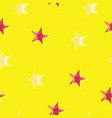 seamless pattern with yellow and red stars vector image vector image