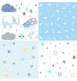set bashower patterns vector image vector image