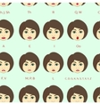 set character lip-sync pattern vector image