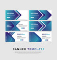 Set of six abstract bannersmodern template