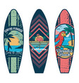 surfboard set prints vector image vector image