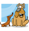 talking dogs cartoon vector image