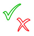 tick check and cross mark vector image