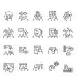 training workshop elements line icons seteditable vector image vector image