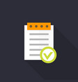 valid document icon approved report in flat style vector image