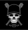 vintage bandit skull in hipster cap and skeleton vector image vector image