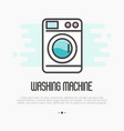 Washing machine thin line icon vector image