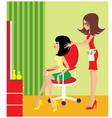 woman in a beauty salon vector image