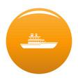 yacht ocean icon orange vector image