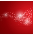 Snowstorm Christmas background with snowflakes vector image