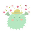 lovely of the happy swelltoad vector image