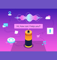 a modern voice assistant vector image vector image