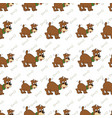 a seamless pattern of cute puppy vector image