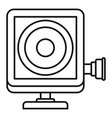 action camera icon outline style vector image vector image