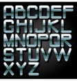 alphabet chrome vector image vector image
