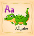 animals alphabet a is for alligator vector image vector image