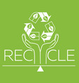banner about recycle silhouette vector image vector image