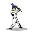 Baseballer vector image vector image