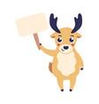 cartoon reindeer holding vector image vector image