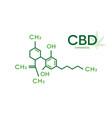 cbd molecular formula cannabidiol molecule vector image vector image