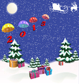 Christmas picture vector image