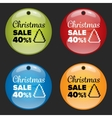Christmas sale badge vector image
