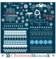 Christmas set of Borders with Snowflakes vector image vector image