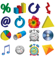 color icons vector image vector image