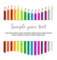 Concept idea with colorful pencils as waved frame vector image vector image