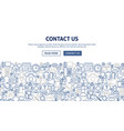 contact us banner design vector image vector image